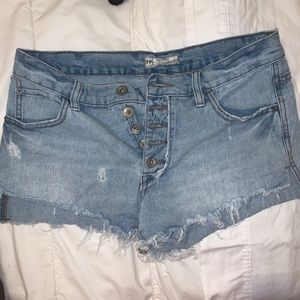 Free People mid rise shorts